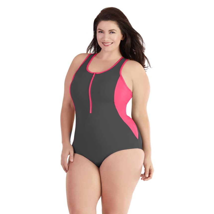 AquaCurve Plus Size Swimsuit by JunoActive