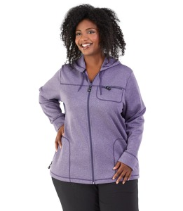 Fleece plus size hoodie
