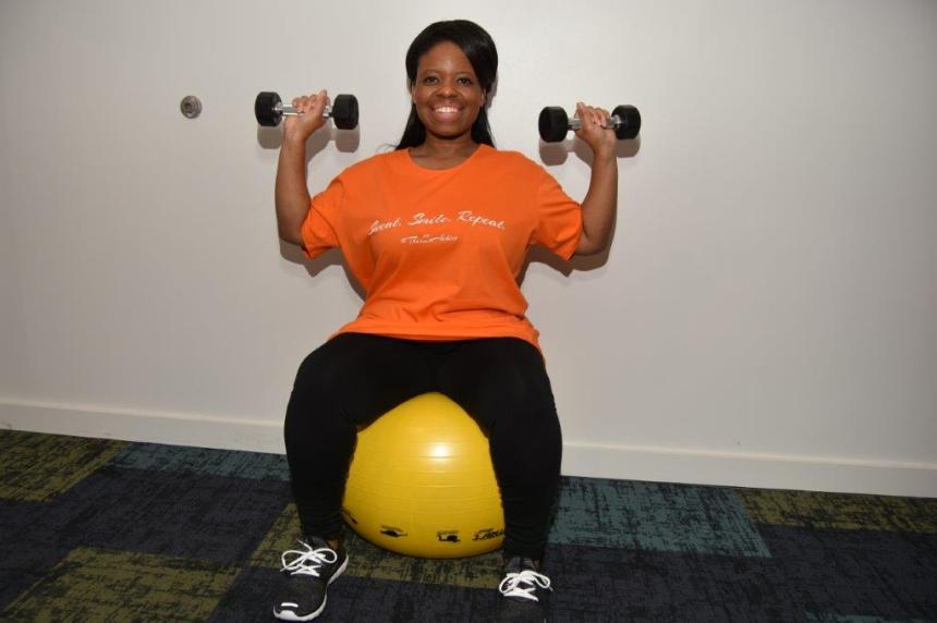 Image of advocate Katrina Hayes in a JunoActive Plus Size Tee