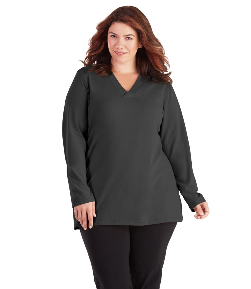 Image of Junonia Classics Plus Size Long Sleeve Top