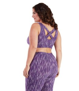 SN Purple Print Plus Size Bra