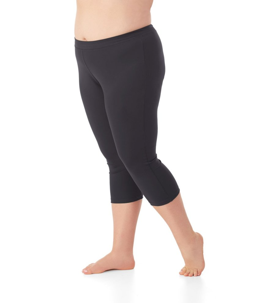Image of JunoActive plus size swim capri