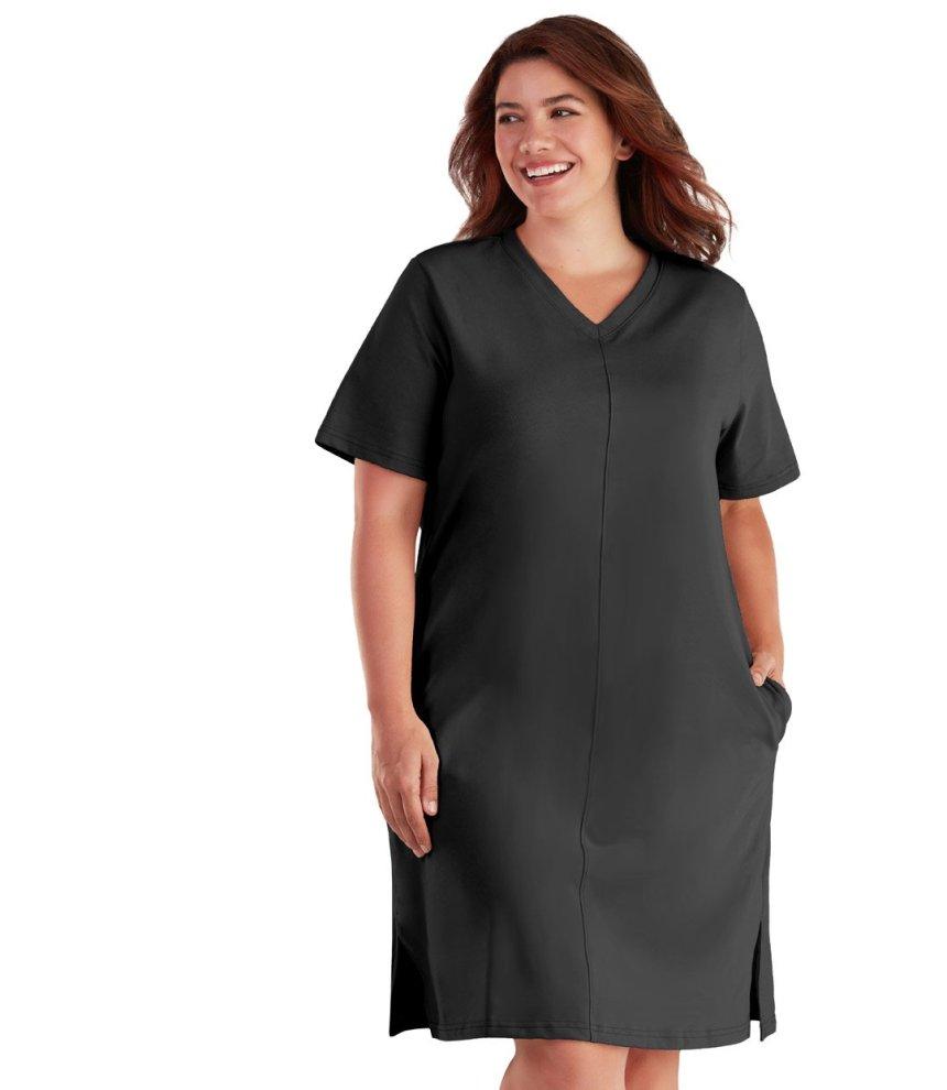 image of plus size black dress by junoactive